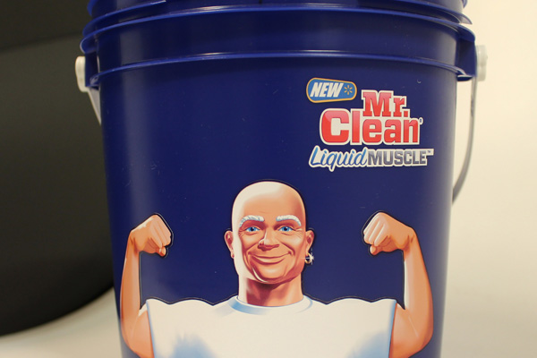 Bucket with Mr. Clean Decal