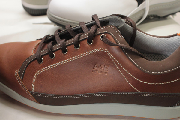 Debossed Shoe with A&E logo